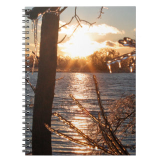 photo of river after an ice storm spiral note book