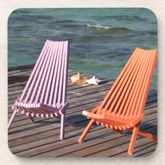 Photo of seaside chairs beverage coasters