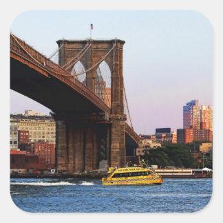 Photo of the Brooklyn Bridge in NYC Square Sticker