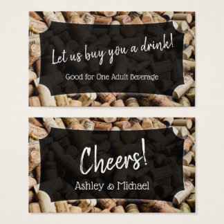 Photo of Wine Corks, Wedding & Event Drink Tickets