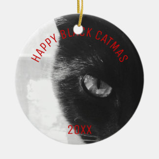 Photo Ornament Happy Black Catmas