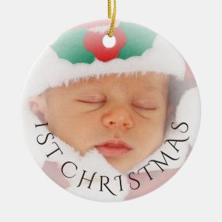 Photo Ornament Overlay   Baby's 1st Christmas