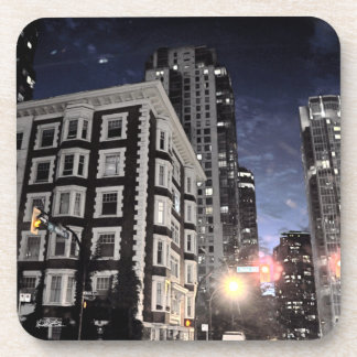Photo passe-partout mounting of city the night coaster