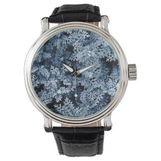 Photo pattern moss plant winter style wristwatch