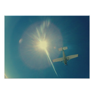 photo perfect small plane pilot poster