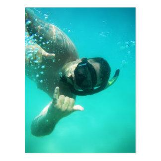 photo perfect snorkeling postcard