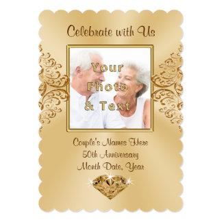 Photo Personalized 50th Anniversary Invitations