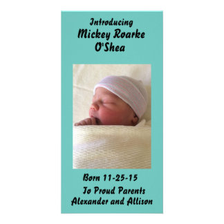 Photo Personalized Baby or Pet Announcement 8x4 Custom Photo Card