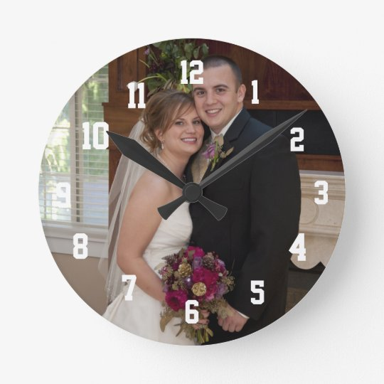 Photo Personalized Medium Round Wall Clock