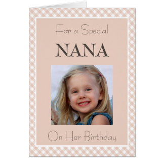 Photo Personalized Nana Birthday Card