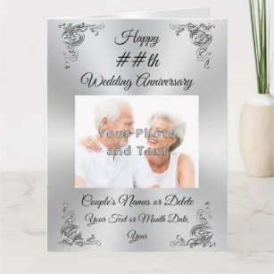 PHOTO Personalized Wedding Anniversary Cards