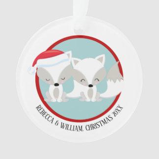 Photo personnalisée arctique de Fox de Noël