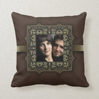 photo pillow with vintage frame