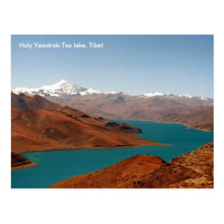 Photo postcard Holy Yamdrok-Tso lake, Tibet