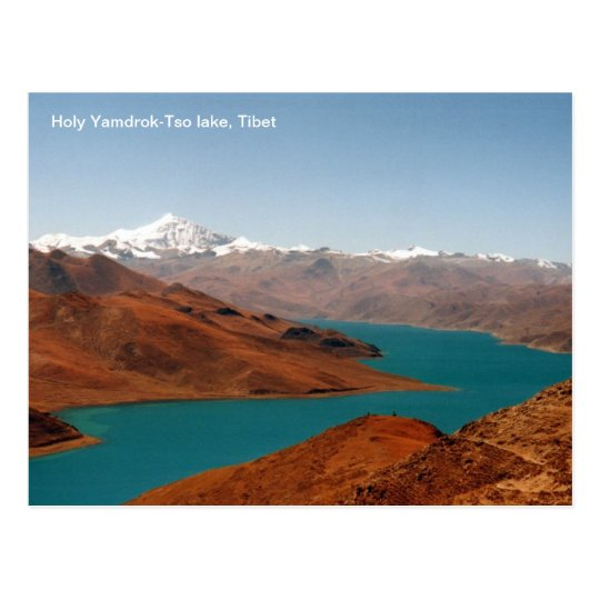 Photo postcard Holy Yamdrok-Tso lake, Tibet