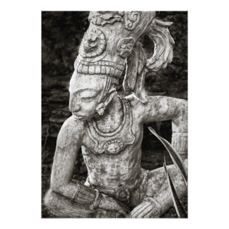 Photo Print - Ancient Mayan Figure - Mexico