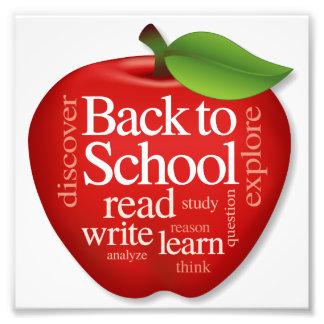 Photo Print, Back to School Apple