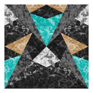 Photo Print Marble Geometric Background G430