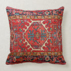 Photo print: of Antique Oriental Turkish Carpet Throw Pillow