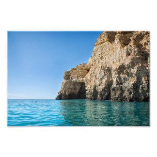 Photo print of the Algarve coast in Lagos Portugal