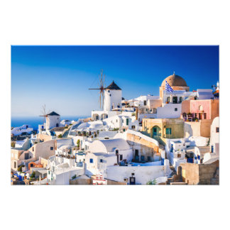 Photo print Oia Santorini Greece
