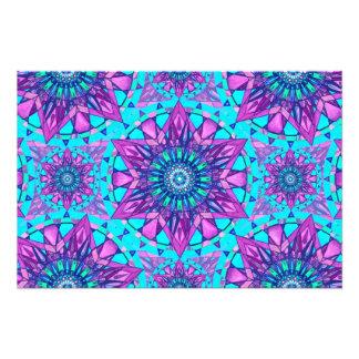 Photo print star abstract mandala