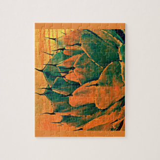 Photo Puzzle Sonoran Cactus in Orange