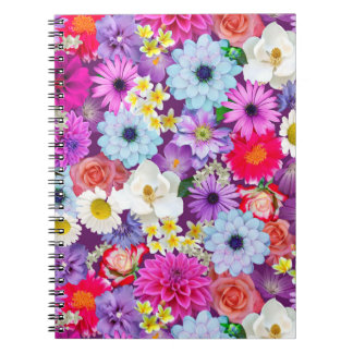 Photo real floral collage notebook
