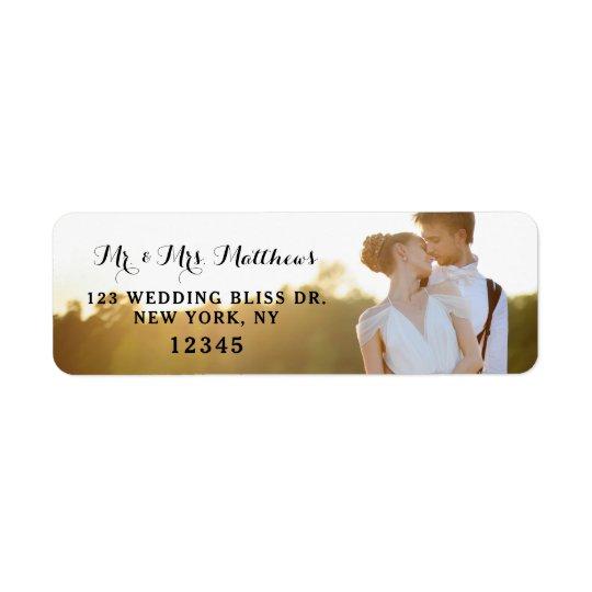 Photo Return Address Labels | Wedding Bliss Design
