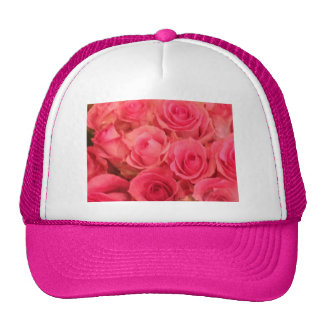 Photo rose de roses casquettes de camionneur