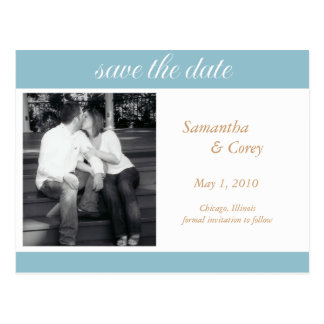 photo save the date announcement postcard