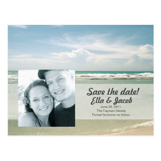 Photo Save the Date Beach Wedding Post Cards