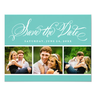 Photo Save the Date Card | Calligraphy Script