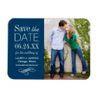 Photo Save the Date   Custom Colour Magnet