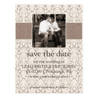 Photo Save the Date TEMPLATE Postcard