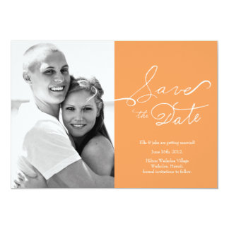 """Photo Save the Date // True Love Collection #03 5"""" X 7"""" Invitation Card"""