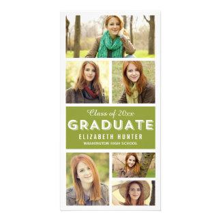 Photo Showcase EDITABLE COLOR Graduation Personalized Photo Card