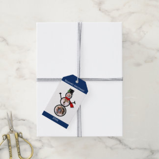 Photo Snowman Christmas Custom Template Gift Tags