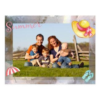 Photo Summer Textured Brush Frame Postcard