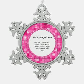 Photo Template, Girly Duo-tone Fuchsia Tiles Ornaments