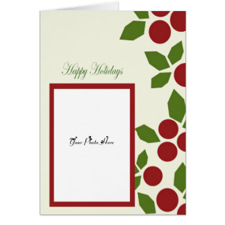 photo template, happy holidays card