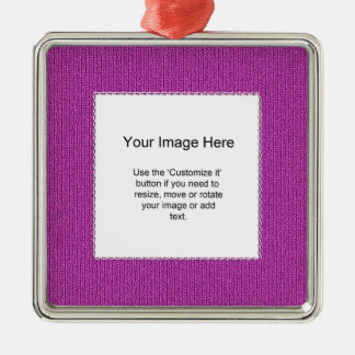 Photo Template - Orchid Knit Stockinette Stitch Ornaments