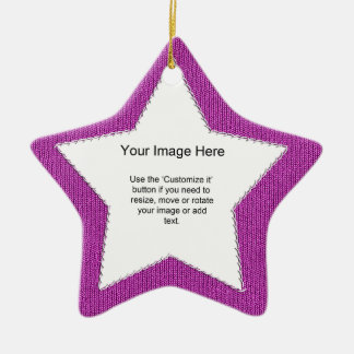 Photo Template - Orchid Knit Stockinette Stitch Christmas Tree Ornament