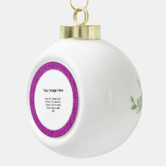 Photo Template - Orchid Knit Stockinette Stitch Ornament
