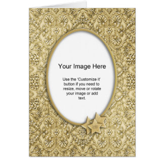 Photo Template - Ornate Embossed Christmas Paper