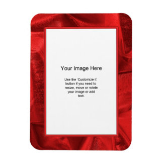 Photo Template - Red Lame' Metallic Fabric Magnet
