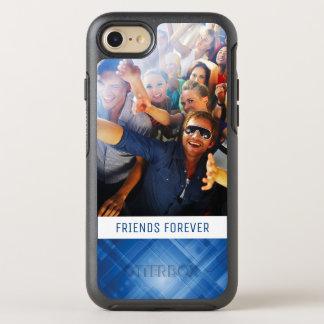 Photo & Text Dark blue hi-tech background OtterBox Symmetry iPhone 7 Case