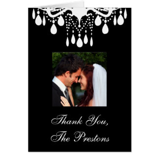 Photo Thank You Card Grand Ballroom (black)