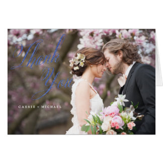 PHOTO THANK YOU CARD wedding thank you card glitte