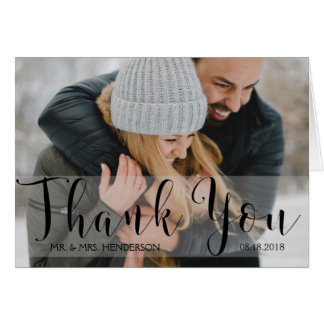 Photo Thank You Card with Elegant Typography